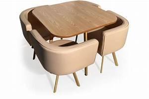Table Et Chaises Scandinave : ensemble de table et 4 chaises matelass es scandinave beige passion design sur sofactory ~ Teatrodelosmanantiales.com Idées de Décoration