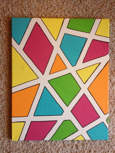 painters tape paint canvas   sharpie