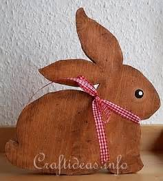 Easter Bunny Wood Crafts