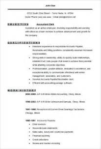 accounting resume templates 16 free sles exles