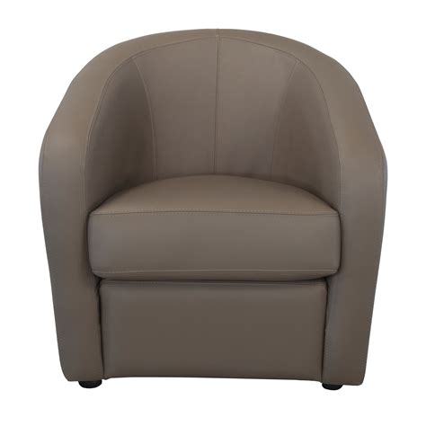 fauteuil cabriolet en cuir avec coussin d assise