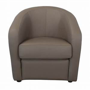 Fauteuil Crapaud Cuir : fauteuil cabriolet en cuir avec coussin d 39 assise ~ Teatrodelosmanantiales.com Idées de Décoration