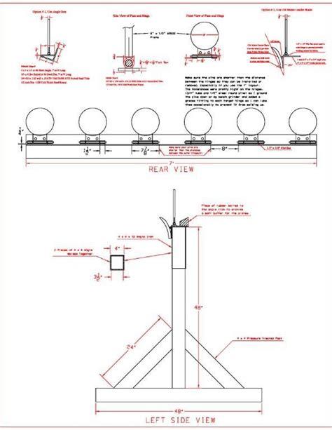 steel shooting plate rack drawing shooting targets diy shooting targets steel targets