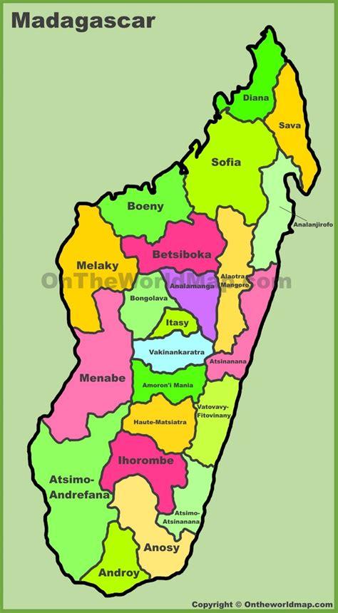 administrative divisions map  madagascar