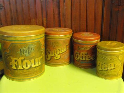 country canister sets for kitchen vintage ballonoff country kitchen canister set of 4 flour