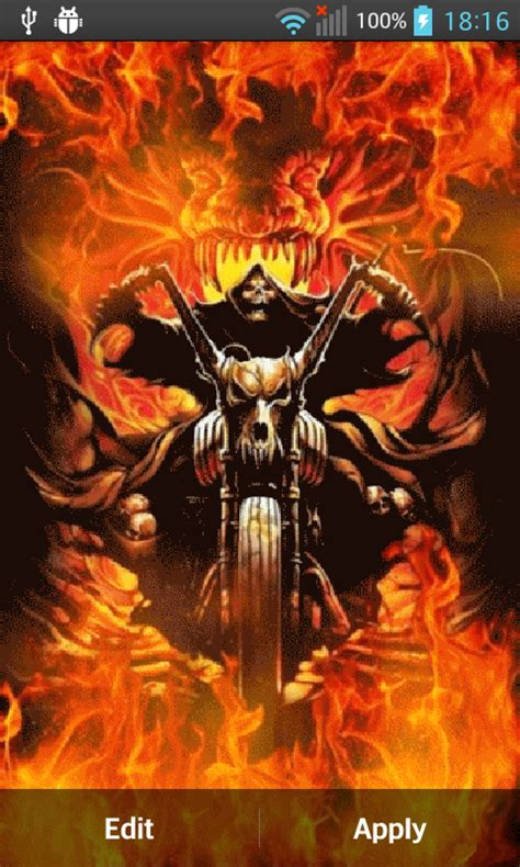 Ghost Rider Animated Wallpaper - ghost live wallpaper for android free on