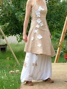 Vetement Femme Pour Mariage : les f es tisseuses sarouel robe en lin pour mariage c r monies robe lin robe et sarouel ~ Dallasstarsshop.com Idées de Décoration