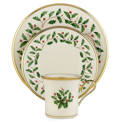 dinnerware christmas china holiday lenox sets piece setting service holly place dishes tableware bone decor rated settings collection formal pc