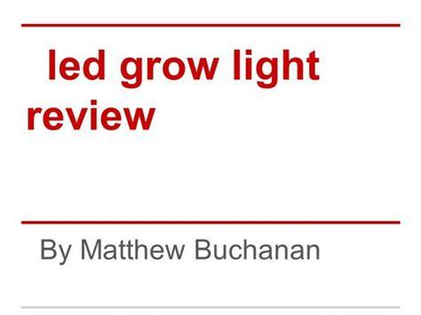 led grow light review led grow light review authorstream