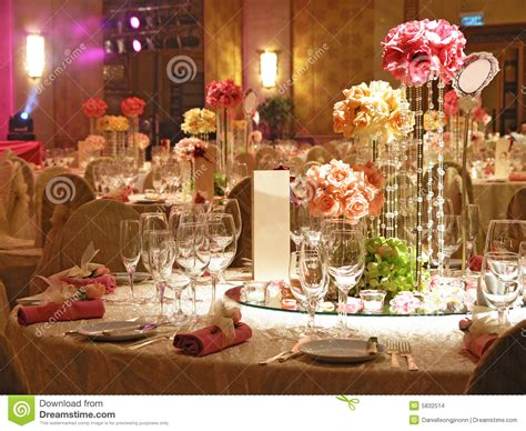 Wedding Table Setting Stock Photo Image Of Color