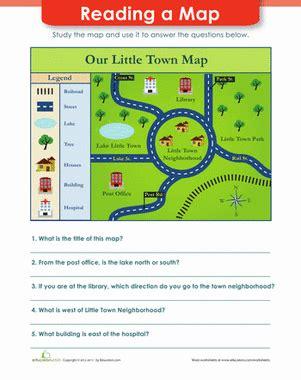 map reading worksheet educationcom