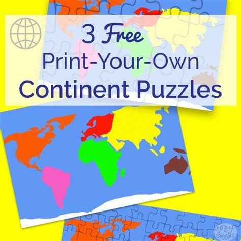 3 free puzzles to make learning the continents 567   e6a73c0dabed8bbb121461a79cd70890 montessori preschool preschool activities