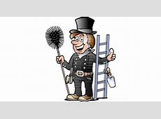Chimney Sweeper with Cleaning Tools