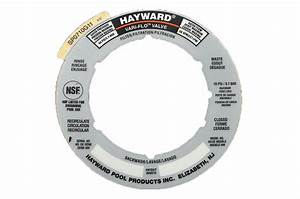 Hayward Sand Filter Valve Label Plate Sticker Part
