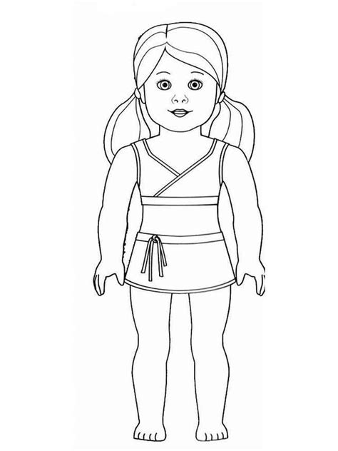 american girl doll coloring pages  printable american