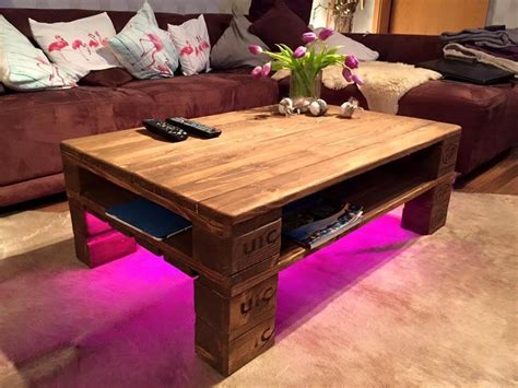 Rustic Pallet Coffee Table + Led Lights Create Your Own Living Room Online Free Ideas For Decorating A Small Pictures Of Green Rooms Dining Combo Decoration Shelves In Curtains And Drapes With Valance Framed Art