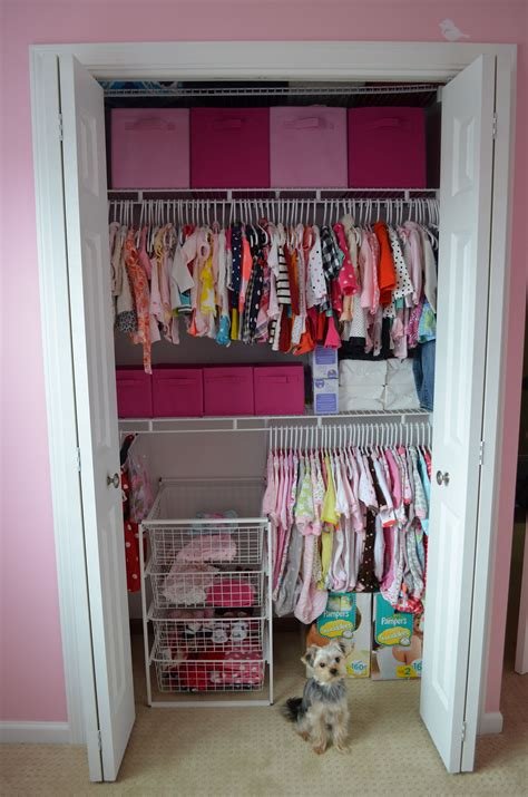Small Baby Closet Organization Ideas by Added An Shelf For An Organized Baby Closet Great