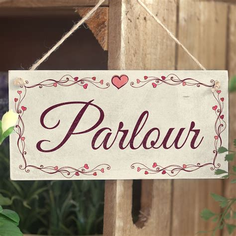 shabby chic wooden signs parlour heart design handmade shabby chic wooden sign plaque buttonhillcottage