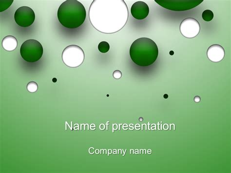 templates powerpoint gratis download free green bubble powerpoint template for your