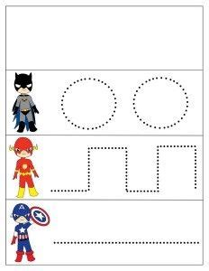 superheroes worksheets tracing masks and carnival for 812 | 77372ef06801d61519d35c9dd9f04b0f