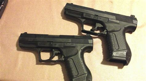 Walther P99 9mm vs. .40S&W - YouTube
