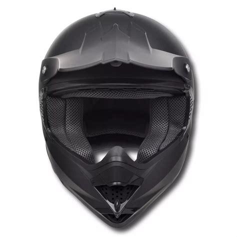 motocross helmet visor vidaxl co uk motocross helmet black m no visor with goggles