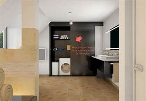 Schiebetür Für Bad : wohin mit der waschmaschine im bad my lovely bath magazin f r bad spa ~ Frokenaadalensverden.com Haus und Dekorationen