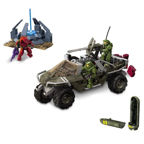 halo warthog mega bloks mega bloks halo construction action set 285 piece warthog