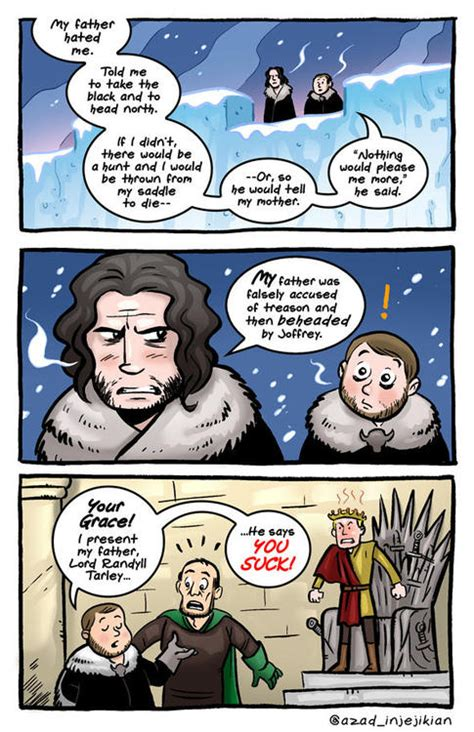 witty game  thrones inspired comics designtaxicom