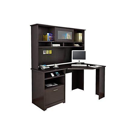 Officemax Corner Desk With Hutch by Bush Furniture Cabot Corner Desk With Hutch Espresso Oak