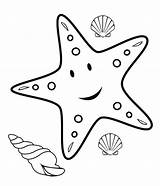 Coloring Pages Fish Starfish Printable Animals Mesmerizing Crafts Beauty Cliparts sketch template