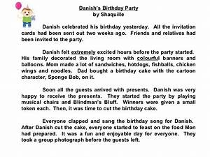 essay on my birthday party in german