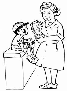 Nurses And Little Kids Coloring Pages Printables 2 Pinterest Coloring Books