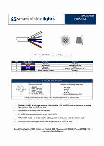 Wiring Data Sheet Standard M12 5 Pin Cable With Euro Color