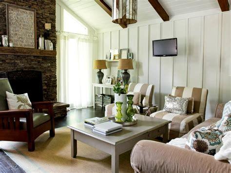 cottage livingroom rustic cottage living room and honey home hgtv