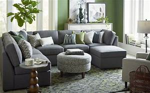 Beckie u shaped sectional by bassett furniture for Sectional sofas bassett furniture