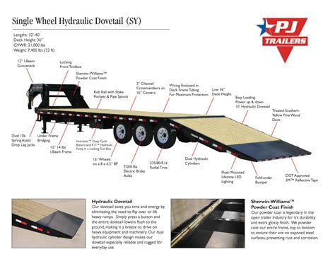 Dot Trailer Wiring Diagram by Pj Trailers Flatdeck With Singles Hydr Dove Sy