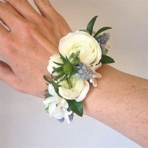passion floral flower corsage wedding bracelet