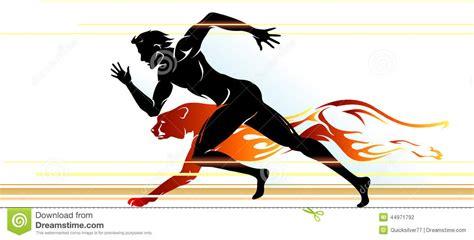 Superhuman Speed Runner stock illustration. Image of ...