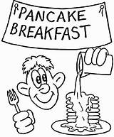 Pancake Coloring Breakfast Pages Printable Drawing Supercoloring Sketch sketch template
