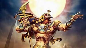 Horus: A sky god,the son of the sun god, Ra. 4k Ultra HD ...