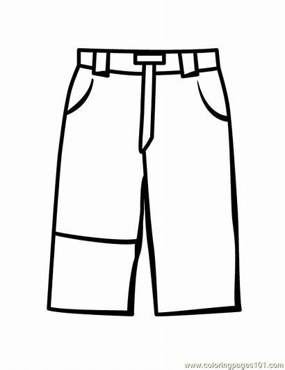 Pants Coloring Pages Jeans Template Coloringpages101
