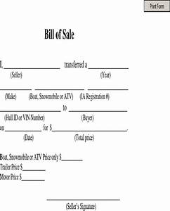 download bill of sale boat snowmobile or atv for free With snowmobile bill of sale template
