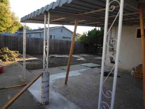 advice on patio overhang support columns