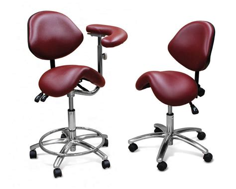 ergonomic saddle stool dc dental equipment