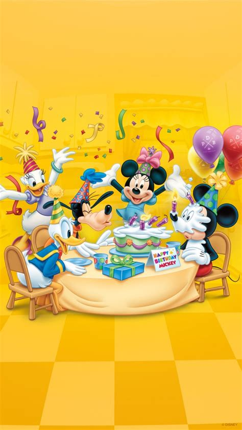 Happy Wallpaper Disney by Our Happy Birthday Mickey Wallpaper 171 Disney