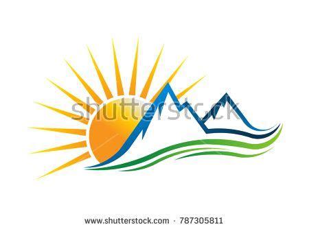 sun sunrise sunshine logo images  pinterest
