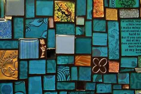 tray  mosaic  blue  stock photo public domain