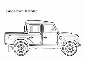 car coloring pages for kids land rover defender printable With land rover 4x4