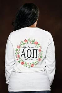 alpha omicron pi vine long sleeve aopi letter shirt With aoii letter shirts